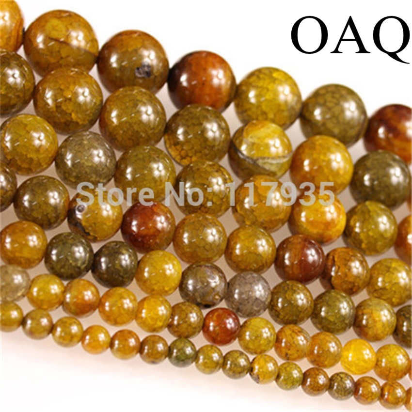 Wholesale sale new pls pick size 6-18mm natural green vein stone onyx round  glossy beads drilled holes jewelry making gift