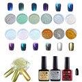 1 Unidades 12 Colores Del Arte Del Clavo Kit de uñas Brillo Espejo Polvo del brillo del Pigmento de Cromo Negro UV Gel Top Coat Base FreeShipping