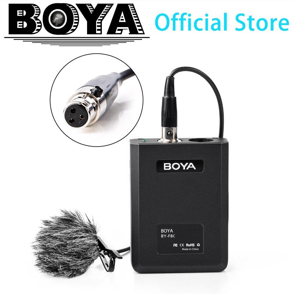 BOYA BY-F8C professionnel XLR cardioïde Lavalier Microphone pour appareil photo reflex numérique Sony Panasonic caméscope Vocal et acoustique guitare vidéo