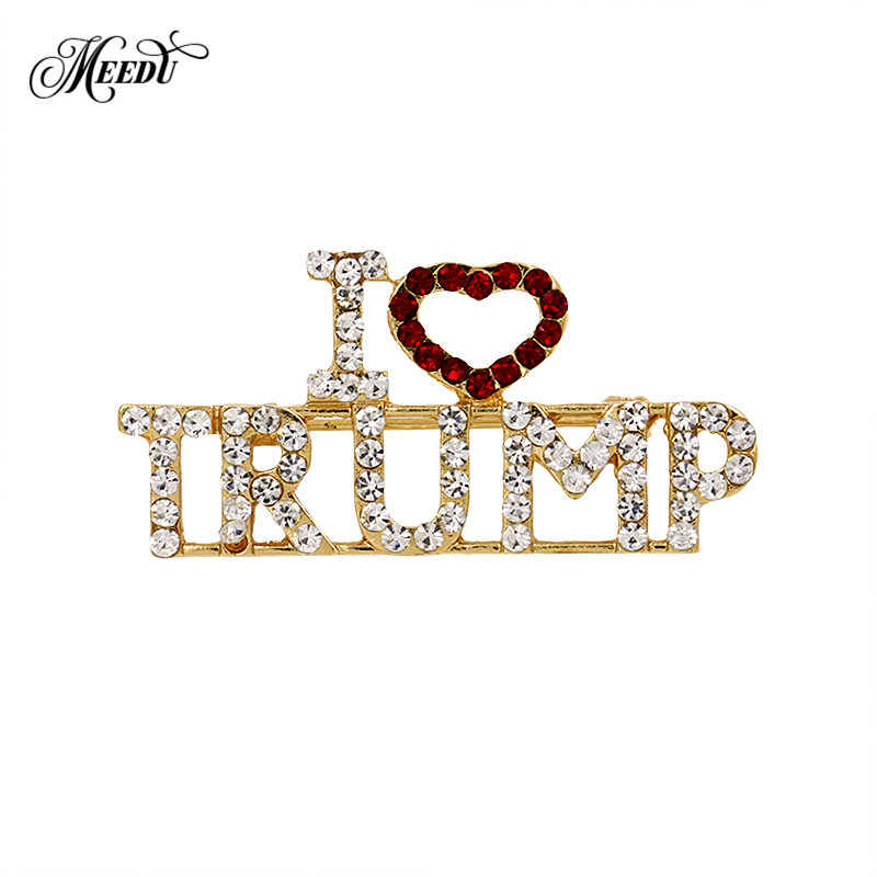 Detail Feedback Questions about MEEDU Unique Design Rhinestone Letter  Brooches Red Heart Letter