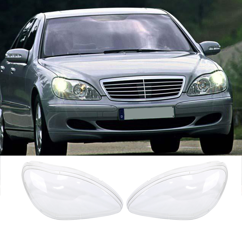 Liplasting for Benz W220 1998 05 LH and RH Front Kit Cover Lens for Headlights Transparent