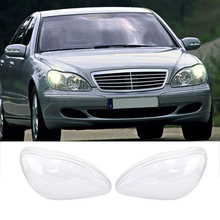 Liplasting for Benz W220 1998-05 LH and RH Front Kit Cover Lens for Headlights Transparent