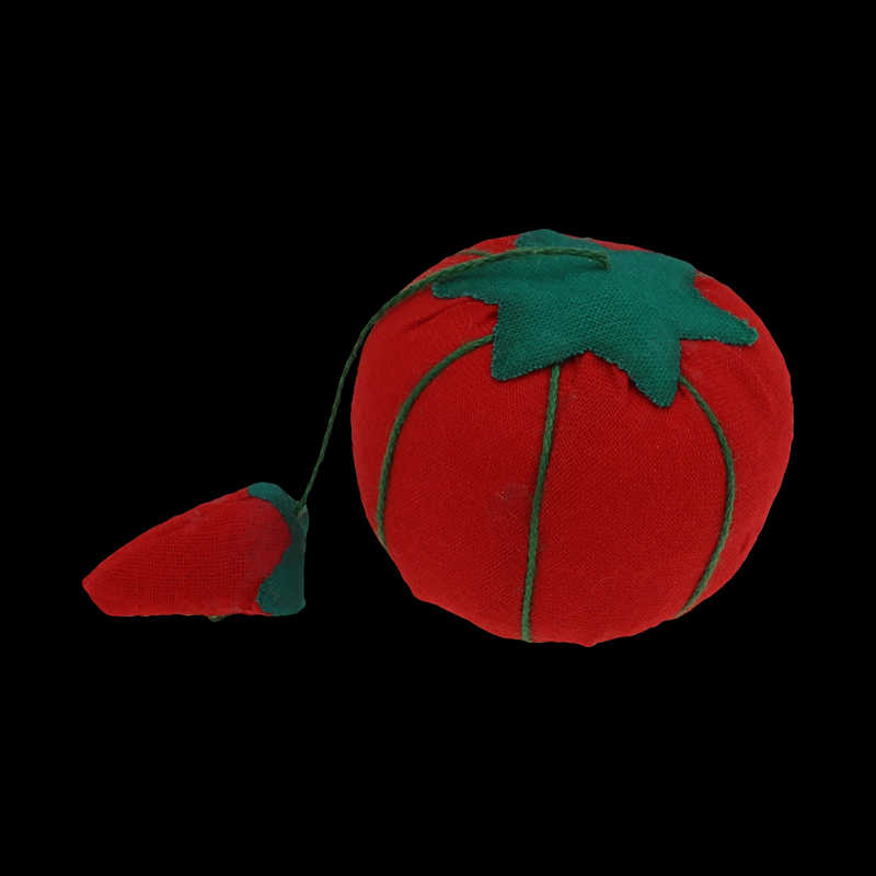 1 stücke Ball tomaten Förmigen Nadel Pin Kissen Mit Elastischen Handgelenk Gürtel DIY Handwerk Werkzeug für stich nähen hand zubehör