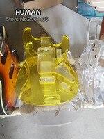 Акрил ST Электрический Гитары тела, только тело, не копать либо отверстий, и 25 синий светодиодов и 2 листы из пластика transp, бесплатная доставка