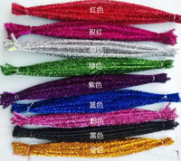 100pcs DIY Handmade Material Colorful Twist Rods Shilly Stick Iron Wire Velvet Wire Flower Making Material