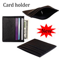 Hot selling Genuine leather Mini men card wallets fashion designer credit bank card holder retail FGS112