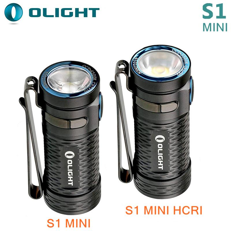 LED Flashlight Olight S1 Mini Baton CW HCRI 450 Lumen Rechargeable Charger USB