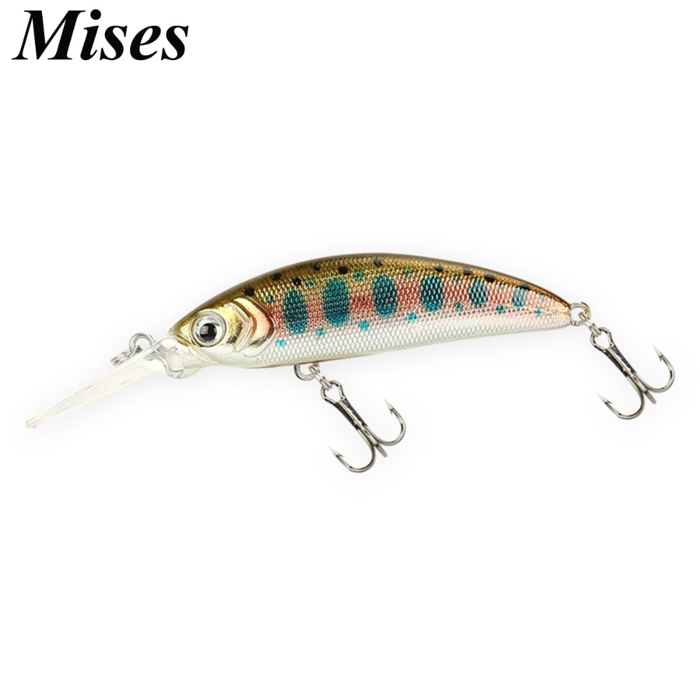 Mises 5cm 5g Ten Colors Small Size Long Shot Diving Bionic Minnow Lure Artificial Hard Bait Professional Weever Fishing Lure