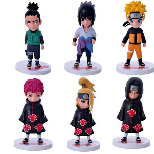 HOT Anime Naruto Set of 6 Action Figures PVC Model Collectible Gift font b Toy b