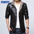 Size S-5XL Hot Sale Winter Thick Leather Garment Casual flocking Leather Jacket Men's Clothing Long Leather Jacket Men coat