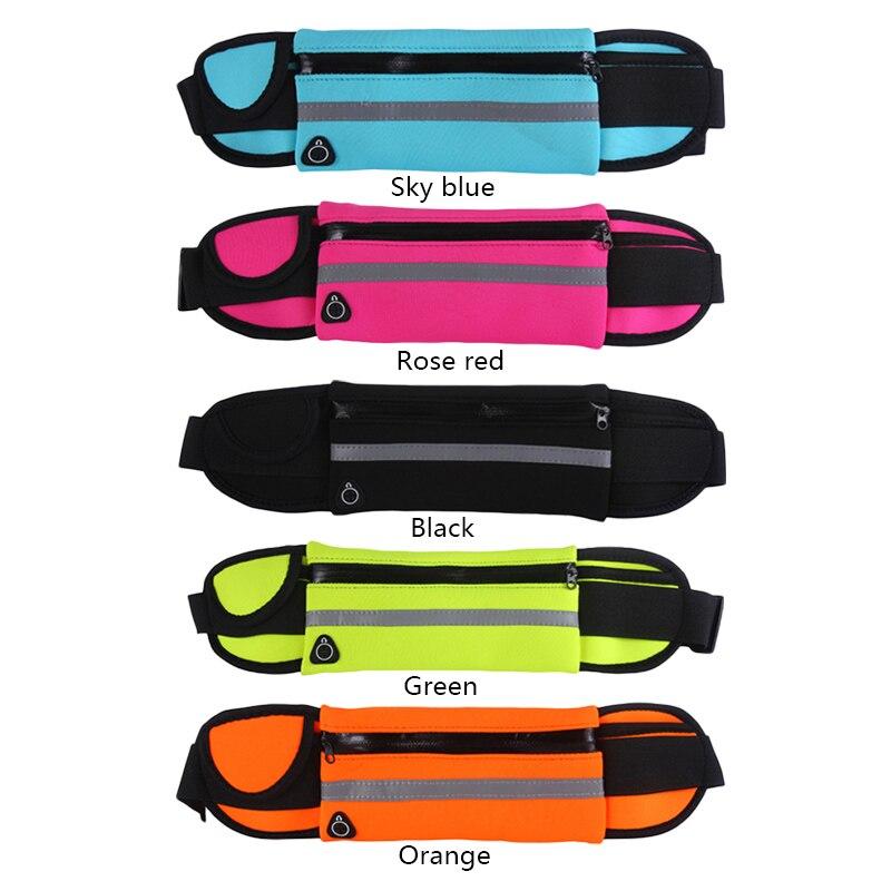 HTB1g0WQBZyYBuNkSnfoq6AWgVXaQ 2019 New Men Women Gym Fitness Pocket Waterproof Sports Waist Bag Pack Belly Belt Bag Outdoor Running Waist Bags Simple Solid