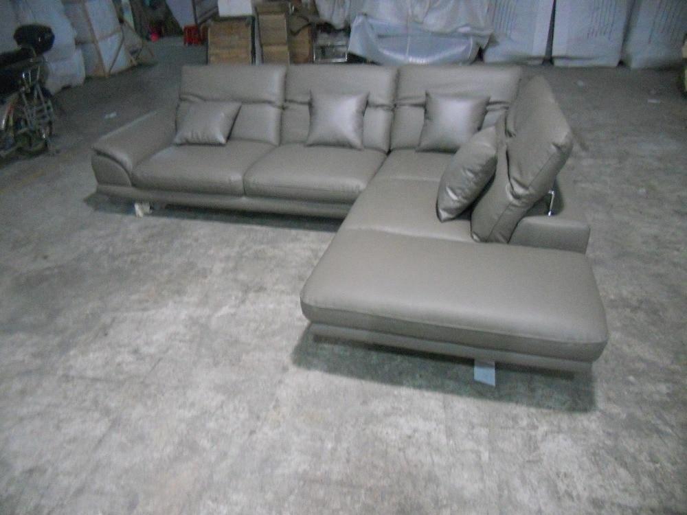 ægte læder sofasnit i stuen sofahjørne hjemmemøbler sofaer med - Møbel - Foto 5