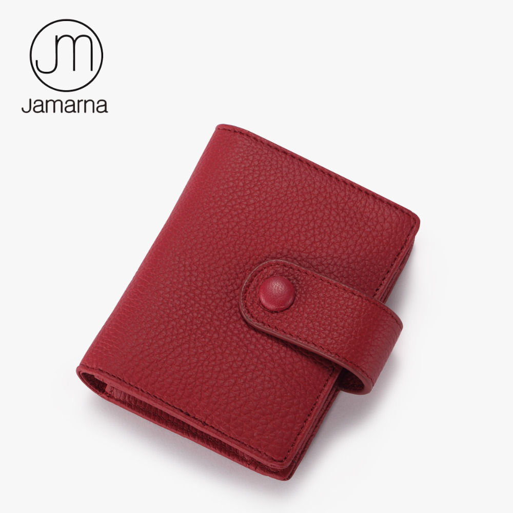 цена  Jamarna Wallet For Women Genuine Leather Small Wallet Business Card ID Holder Female Coin Purse 12 Card Pages Brand New  онлайн в 2017 году