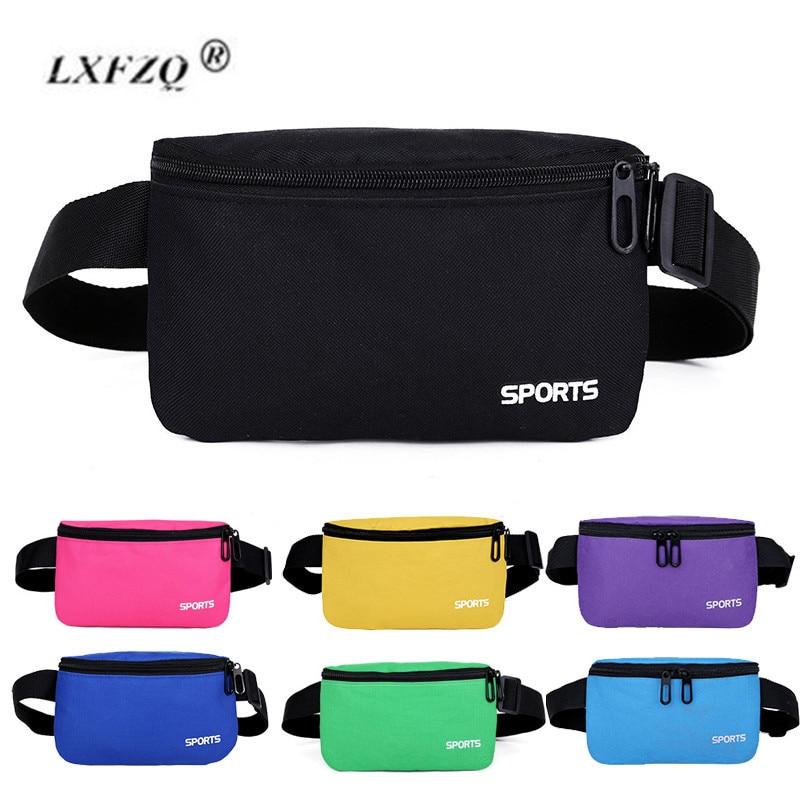 LXFZQ Fanny Pack For Women Men Waist Bag 11 Colors Unisex Waist Pack New Pink Female Belt Bag Male Zipper Bum Bag Hip Pouch
