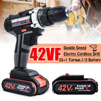 21V 6000mAh Rechargeable Lithium Battery Double Speed Cordless Drill Household Electric Drill Wrench Powerful Driver Power Tools
