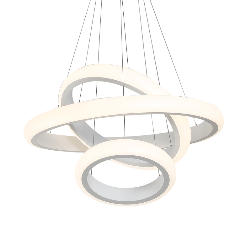 Modern LED Ring Circle Light Living Room Bedroom Dining Room Pendant Light White Acrylic Hanging Ceiling Lamp Fixtures modern crystal chandelier hanging lighting birdcage chandeliers light for living room bedroom dining room restaurant decoration