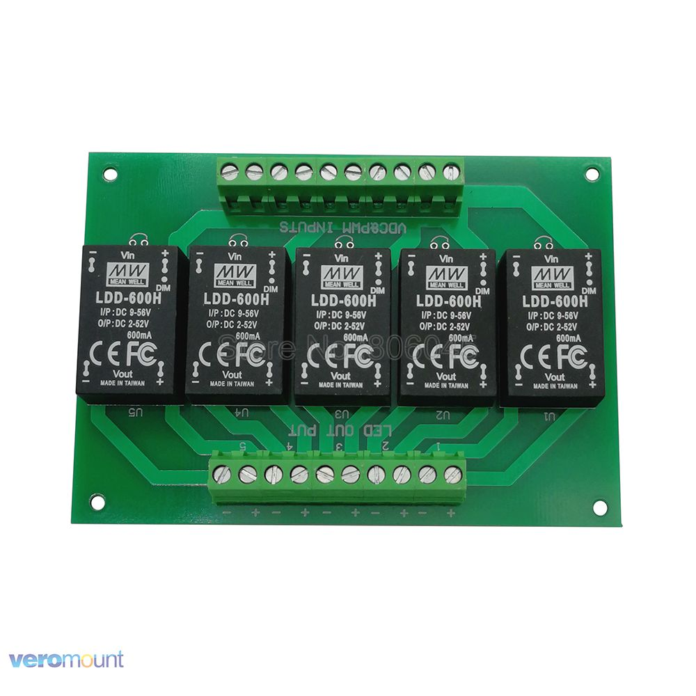 Meanwell LDD 5UP 600H DC DC Constant Current Step Down LED Driver PCB Board For DIY