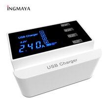 INGMAYA многопортовое USB зарядное устройство светодиодный Smart Charge 2.4A для iPhone 5S, SE 6 7 Plus iPad samsung huawei Nexus DV адаптер питания