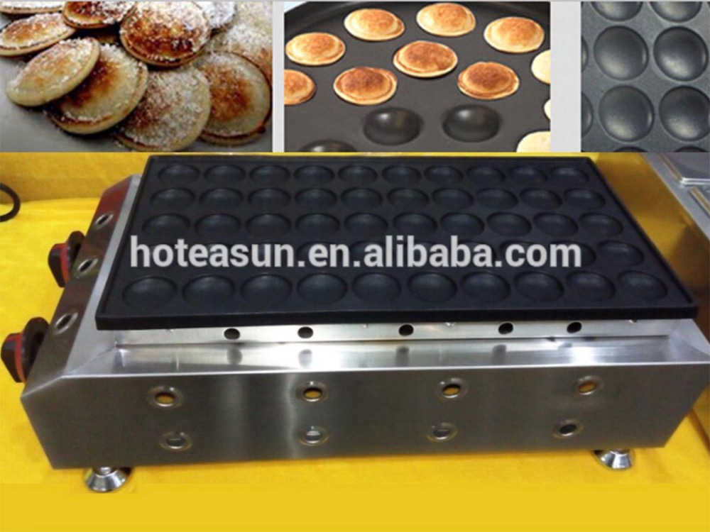 Commercial Use Non-stick LPG Gas Mini Dutch Pancake Poffertjes Dorayaki Iron Maker baker Machine 6pcs commercial use non stick lpg gas korean egg bread gyeranbbang machine iron baker maker