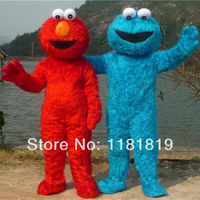 Sesame Street Cookie And ELMO Mascot Costume Custom Fancy Costume Anime Cosplay Mascotte Theme Fancy Dress