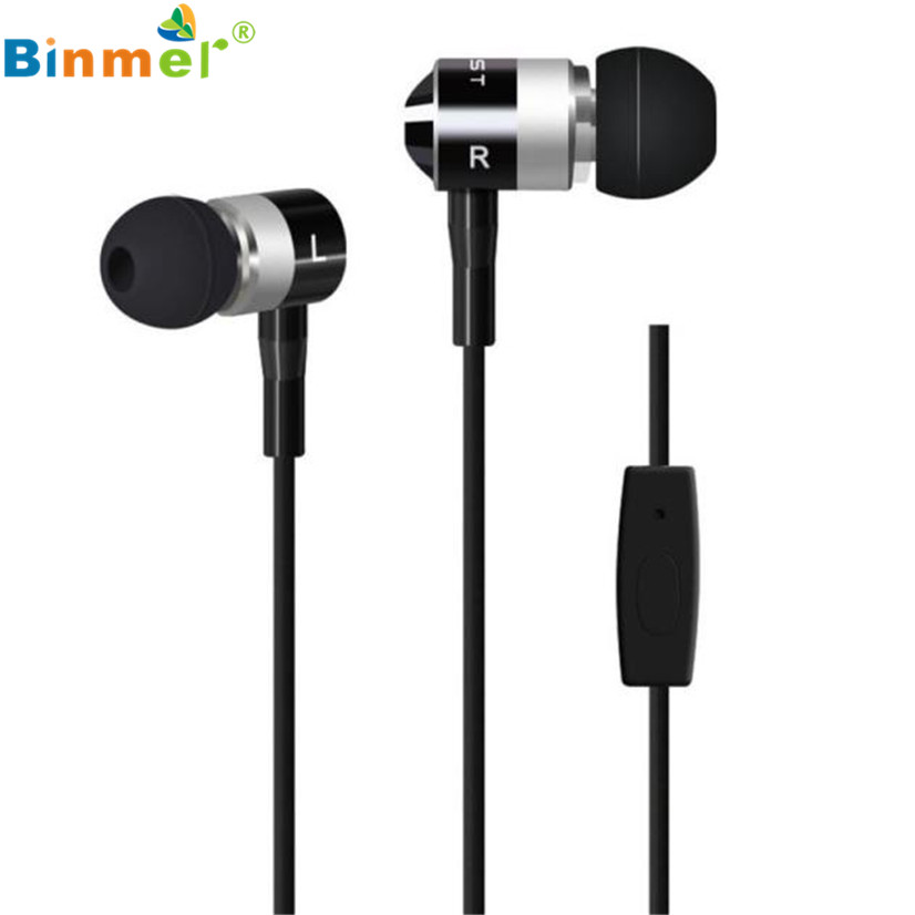 Factory Price Binmer Hot Selling 3.5mm Super Bass Stereo In-Ear Earphone Headphone Headset Nov1 Drop Shipping factory price binmer led luminous in ear earphone glow stereo fone de ouvido headset for iphone drop shipping