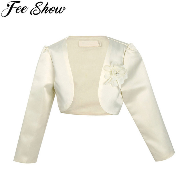 9M-10Y Beige Kids Girls Long Sleeves Clothing Bolero Jacket Shrug Short Cardigan  Sweater Dress Outerwear Party Coats Cover 56f809b00