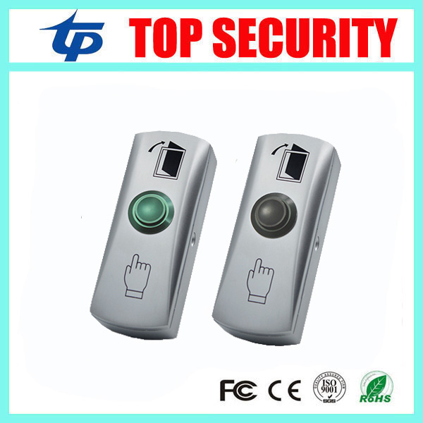 Good Quality Zinc Alloy Push Exit Button Door Access Control Exit Switch With Led Light NO/COM NC/COM Door Release Button lpsecurity stainless steel door access control led backlit led illuminated push button door lock release exit button switch