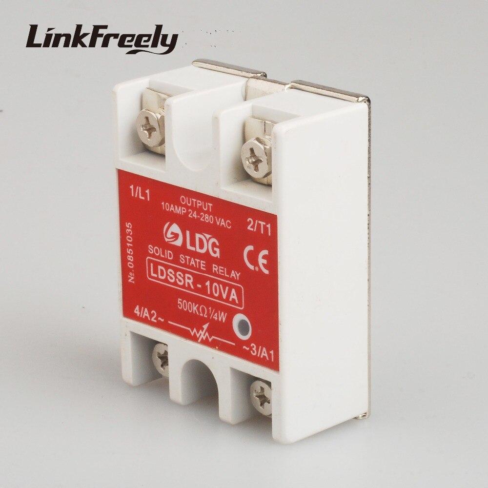 Hot Sale Ssr 10va Solid State Relay 220v 10a Output 24 280vac Input Solidstaterelay Schematic Input110v 230v 400v Ac Board Switch Module 25va 40va