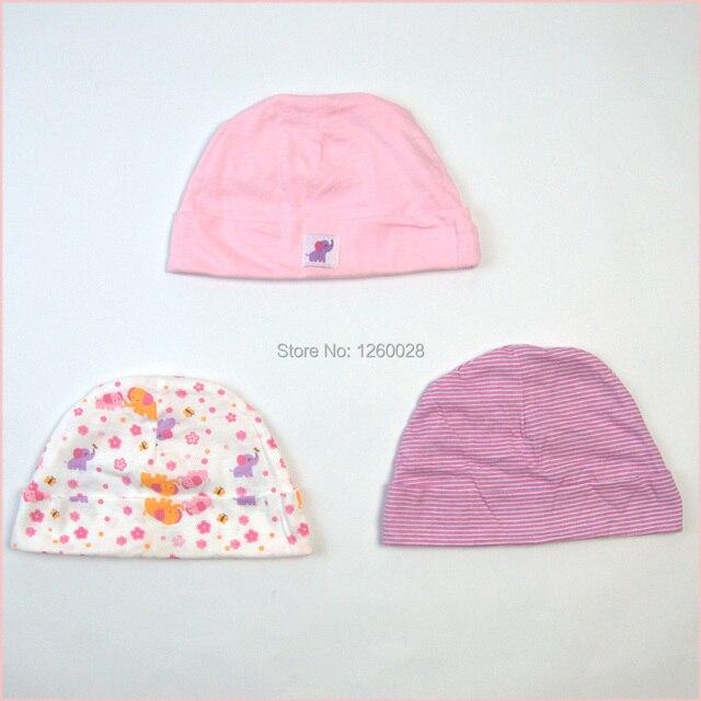 Recién nacidos sombreros y gorras gorros 100% tela de algodón gorro ...