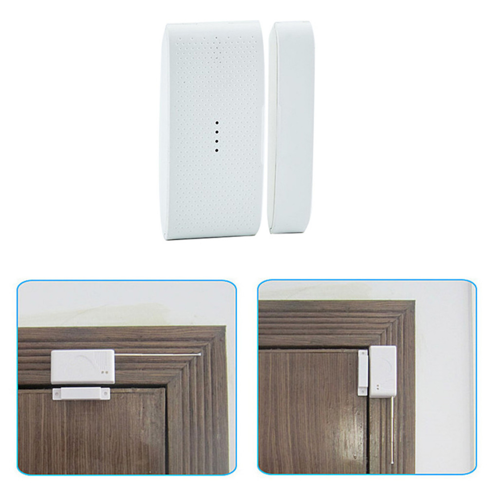 Wireless Door Magnetic Sensor Detector Window Door Entry Anti Thief Burglar Alarm 433Mhz Home Wireless Security Alarm System 10pcs 2262 chip 315mhz optional coding wireless door sensor with jumper magnetic switch home security alarm anti thief