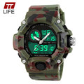 TTLIFE G Style Quartz Digital Camo Watch Men Dual Time Man Sports Watch Men Luxury Milltary Army Reloj Hombre