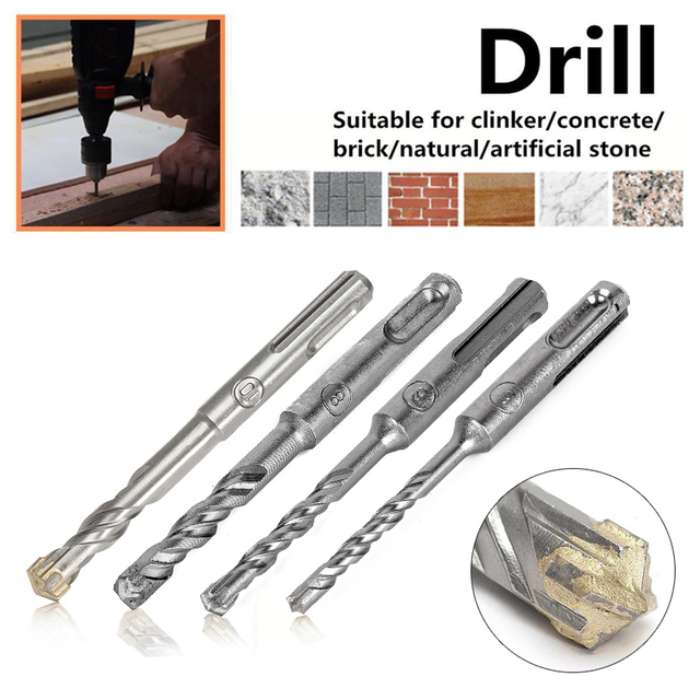 110mm 5/6/8/10 mm SDS Plus Masonry Crosshead Twin spiral Hammer Drill Bits