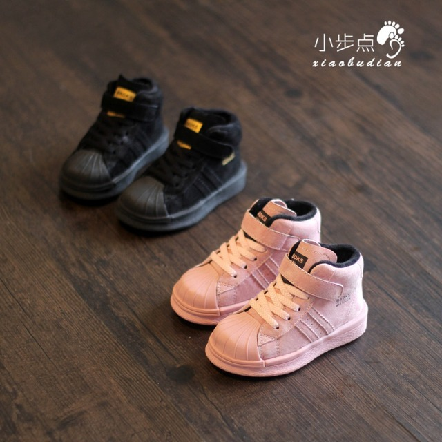 Winter children's shoes and sports shoes high cashmere Baby Baby Toddler shoes casual shoes