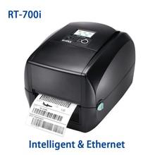 Intelligent & High-end Godex RT-700i desktop transfer label printer machine with Ethernet port 118mm sticker paper printing