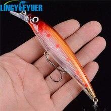 1PCS Floating Minnow font b Fishing b font Lure Laser Hard Artificial Bait 3D Eyes 11cm