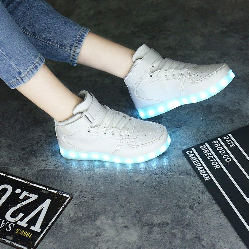 SAGUARO Trwałe ładowanie USB LED Lekkie buty Mężczyźni Kobiety 7 - Obuwie dziecięce - Zdjęcie 3