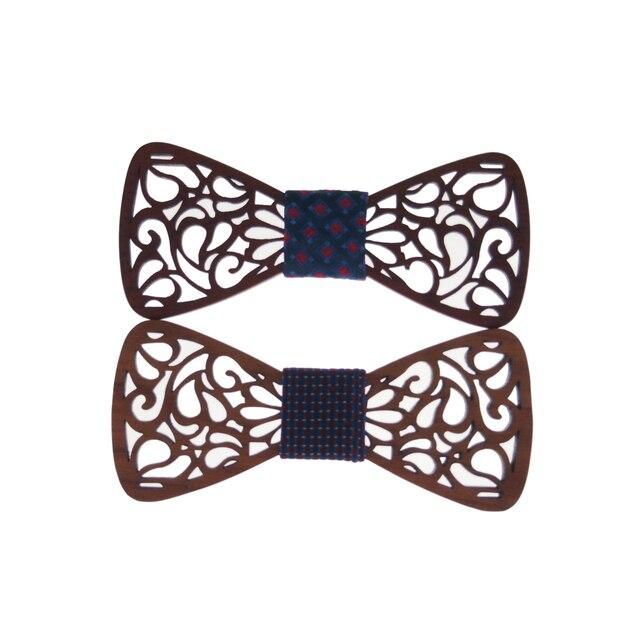 Mantieqingway Pajaritas Moda Novio Normal De Madera Hombres De Madera Hueco Regalo Para Hombres Gravata Corbata Masculina de La Boda El Matrimonio Pajaritas