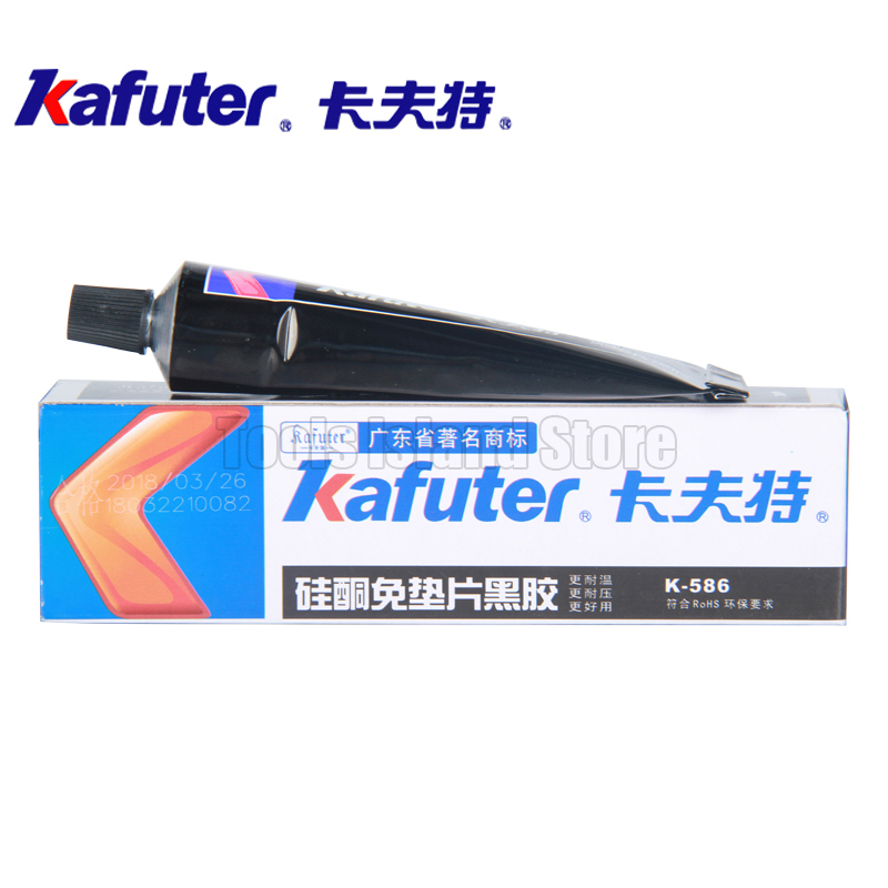 Kafuter High Quality 55g K-586 Black Waterproof Resistant To Oil Resist High Temperature Sealant