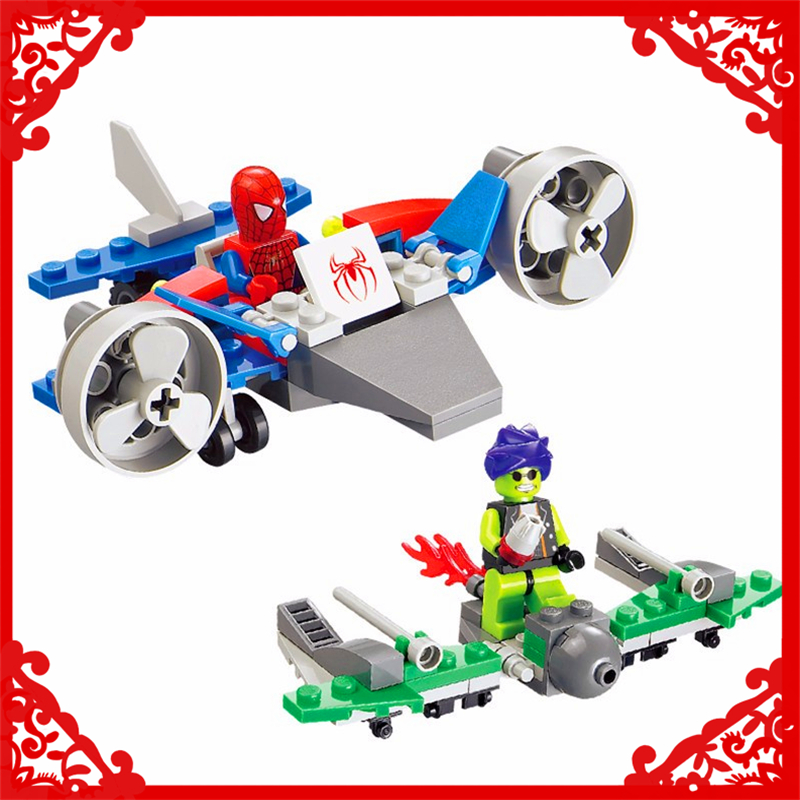 KAZI 87001 Spiderman Super Heros Model Building Block 112Pcs DIY Educational  Toys For Children Compatible Legoe decool 7118 batman chariot super heroes of justice building block 518pcs diy educational toys for children compatible legoe