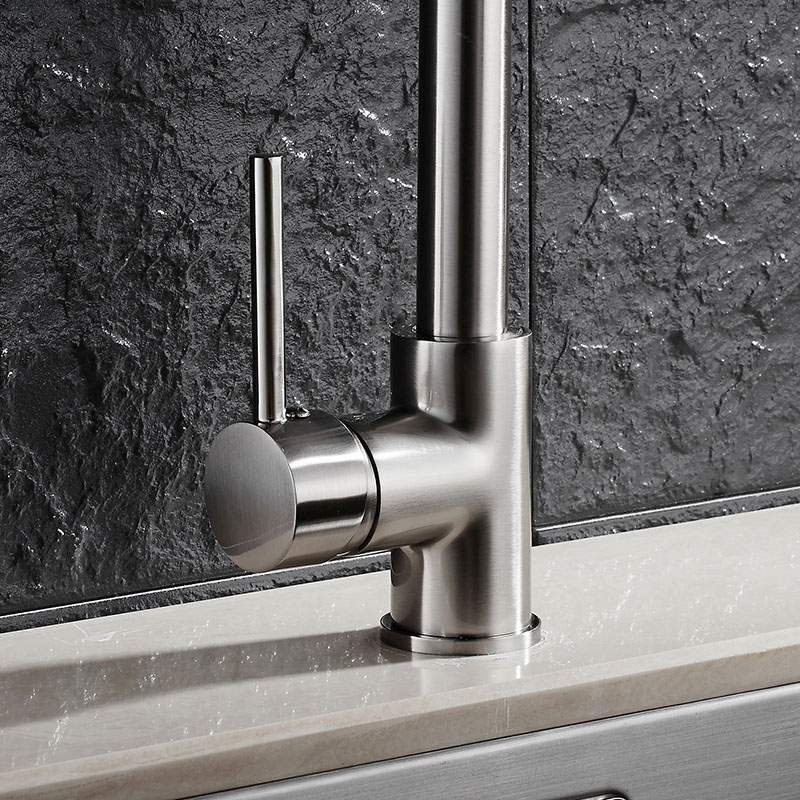 Nickel gebürstet 100% Messing Küchenarmatur Hot & Cold Wasser Spüle ...