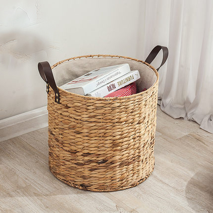 Rattan hamper bucket without cover dirty clothes laundry basket storage basket large straw basket dirty clothes
