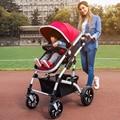 Alta Qualidade 40 cm Ampliar Macio Assento Do Bebê Carrinho De Criança Pode Sentar deitado À Prova de Choque de Carro Do Bebê Portátil Dobrável Carrinhos de Bebê para Recém-nascidos C01