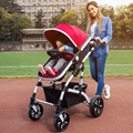 High Quality 40cm Widen Seat  Soft Baby Stroller Can Sit Lying Shockproof Baby Car Portable Folding Baby Prams for Newborns C01