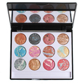 maquiagens profissionais Metallic Nudes Eyeshadow Waterproof 12 Color Minerals Shimmer Baked Eye Shadow Palettes