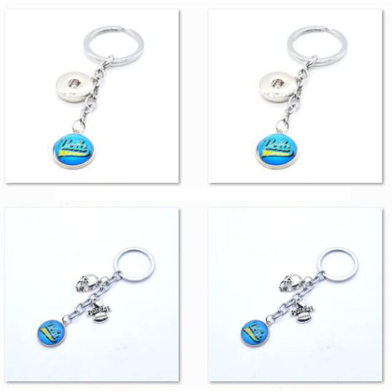 2018 New Football Keychain <font><b>UCLA</b></font> Bruins Charm Key Chain Car Keyring for Women Men Party Birthday Keyrings Gifts image