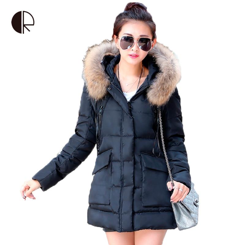 fef5cee612fb 2016 новый женщины вниз парки пальто тонкий вниз пальто женщин зимние  куртки теплый пуховик моды длинном