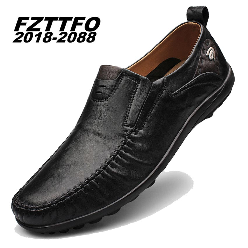 Men's 100% Genuine Leather Handmade Driving Shoes,New Fashion Casual Shoe,Brand Design Flats Loafers For Men K213 bole new handmade genuine leather men shoes designer slip on fashion men driving loafers men flats casual shoes large size 37 47