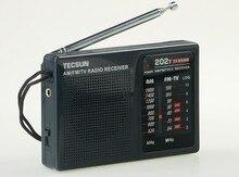 Top Quality TECSUN R-202T radio Pocket AM FM TV Audio Radio black Portable Free Shipping