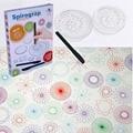 НОВЫХ Спирограф deluxe набор Дизайн Олова Набор Сделать Спиральной Конструкции Блокировки Шестерни и Колеса, рисовать развивающие игрушки с 3 шт. Ручки