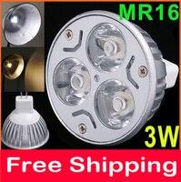 12V 3W MR16 GU5 3 White LED Light Led Lamp Bulb Spotlight Spot Light Free Shipping
